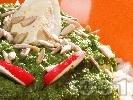 Рецепта Предястие от спанак, ориз и варено яйце